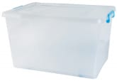 55L Storage Box W/ Wheels Blue 56x39x31cm