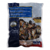 MR SEAFOOD Frozen Cooked Whole Shell Blue Mussels 1kg