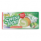 Swiss Roll Coconut Pandan 8sX22g
