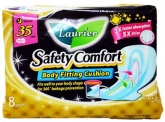 LAURIER Safety Comfort Night 35cm Wings 8s