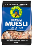 Premium Muesli Full of Fruit 750g