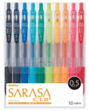 Sarasa Clip Gel Pen 0.5mm 10s