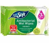 Antibacterial Wet Wipes 3s