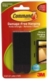 Picture Hanging Strips - 4 Sets Large 17206 Black
