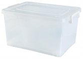 32L Storage Box W/ Wheels White 47x34x25cm