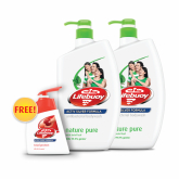 Body Wash - Nature Pure 2sX1L + Free Total 10 Hand Wash 200ml
