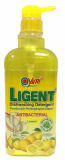 LIGENT Dishwashing Liquid Anti-Bacterial Lemon 1L